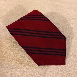 Lauren Ralph Lauren Red w/ Navy Stripe Tie